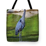 Great Blue Wading The Tuck Tote Bag