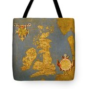 Great Bretain And Ireland Tote Bag