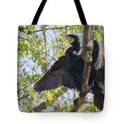 Great Cormorant - High In The Tree Tote Bag