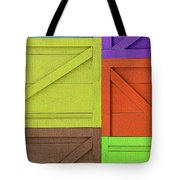 Great Crates - Multicolored Packing Boxes Stacked Tote Bag