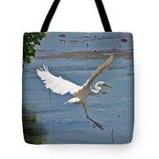 Great Egret Ascending Tote Bag