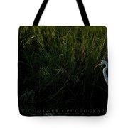 Great Egret At Ft George Inlet  Tote Bag
