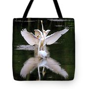 Great Egret Ballet Tote Bag
