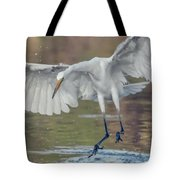 Great Egret Chase 072316-9861-2cr Tote Bag