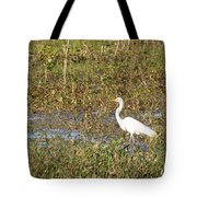 Great Egret Fishing Tote Bag