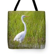 Great Egret In The Spring  Tote Bag