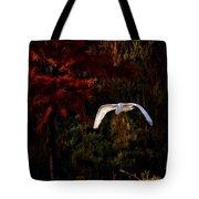 Great Egret Paradise Flight Tote Bag