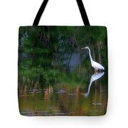 Great Egret Summer Pond Tote Bag