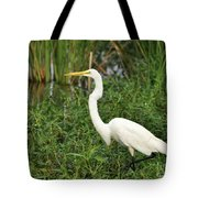 Great Egret Walking Tote Bag