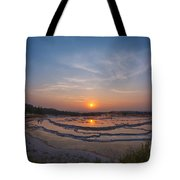 Great Fountain Geyser Sunset  Tote Bag