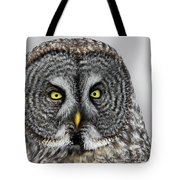 Great Gray Owl Portrait Tote Bag