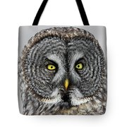 Great Gray Owl Portrait Tote Bag