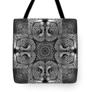 Great Gray Owl Stare Down Tote Bag