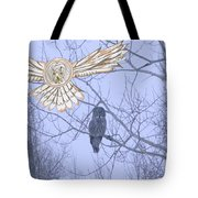 Great Gray Owl Together Tote Bag