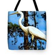 Great Heron Art Tote Bag