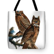Great Horned Owl Audubon Birds Of America 1st Edition 1840 Royal Octavo Plate 39 Tote Bag