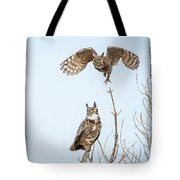 Great Horned Owl Couple Tote Bag