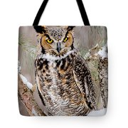 Great Horned Owl Nature Wear Tote Bag