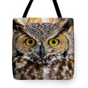 Great Horned Stare Tote Bag