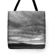 Great Salt Lake Clouds At Sunset - Black And White Tote Bag