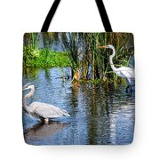 Great White And Great Blue Tote Bag