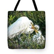 Great White Egret Family Tote Bag