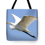 Great White Egret In Flight . 40d6845 Tote Bag