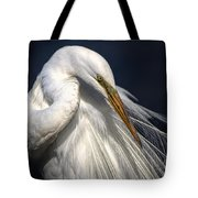 Great White Egret Print One Tote Bag