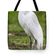 Great White Egret Vertical Tote Bag