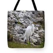 Great White Heron Race Tote Bag
