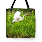 Great White Heron Takeoff Tote Bag