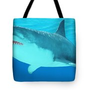 Great White Shark Close-up Tote Bag