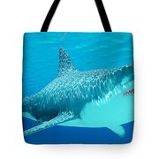 Great White Shark Undersea Tote Bag