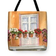 Grecian Balcony Tote Bag