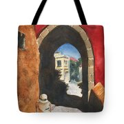 Grecian Passageway Tote Bag