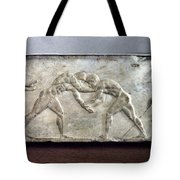 Greece: Wrestlers Tote Bag
