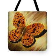 Greek Butterfly Tote Bag