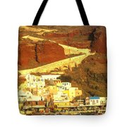 Greek Fishing Town Tote Bag