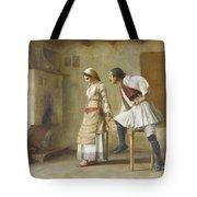 Greek Flirtation Tote Bag