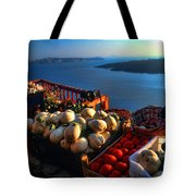 Greek Food At Santorini Tote Bag