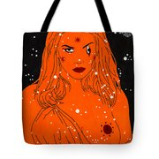Greek Goddess In The Sky Tote Bag