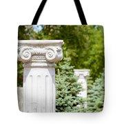 Greek Ionic Columns Tote Bag