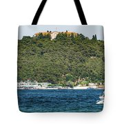 Greek Orthodox School And The Sea Of Marmara Tote Bag