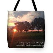 Greek Proverb Tote Bag