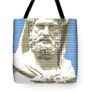 Greek Statue #3 - Blue Tote Bag