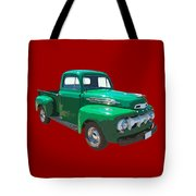 Green 1951 Ford F-1 Pick Up Truck Illustration  Tote Bag