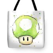 Green 1up Mushroom Tote Bag
