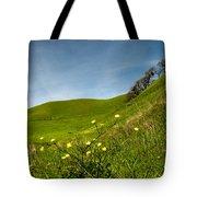 Green 4 Flowers Tote Bag