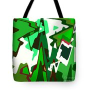Green Abstract Squared #2 Tote Bag