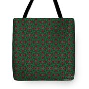 Green And Brown Chunky Cross Mirror Pattern Tote Bag